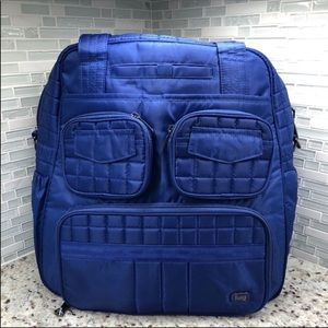Lug Puddle Jumper Overnight Gym Bag Cobalt Blue